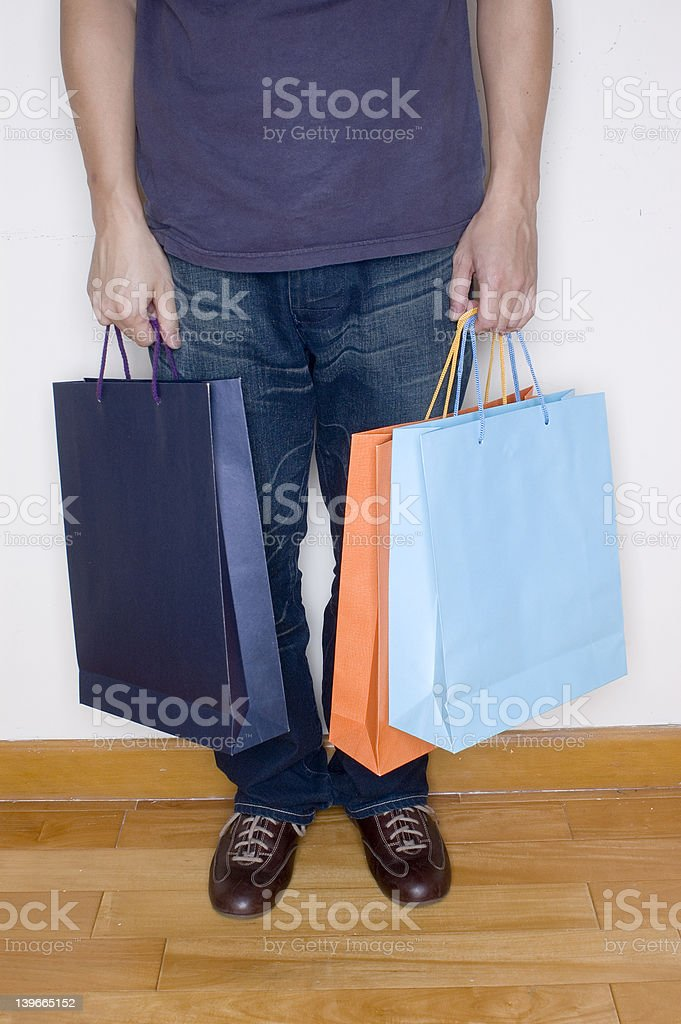 male spending spree royalty-free stock photo