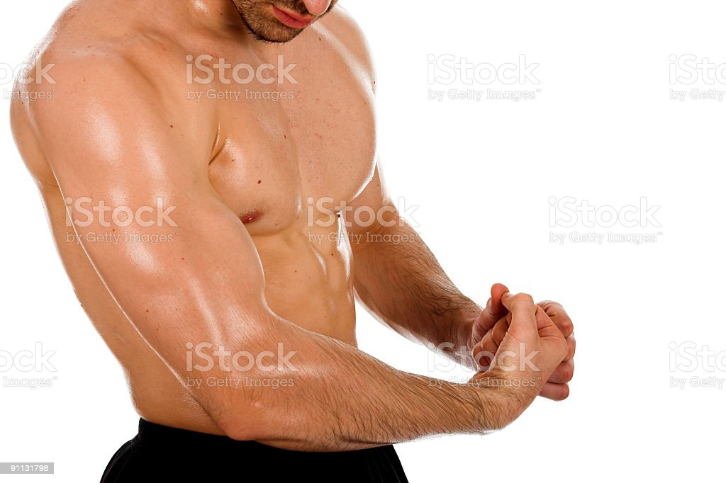 Male stron muscle body royalty-free stock photo