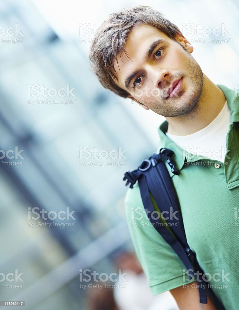 Male student looking confident royalty-free stock photo