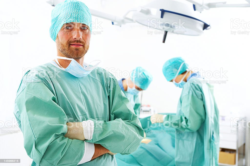 Male surgeon with his arms crossed royalty-free stock photo
