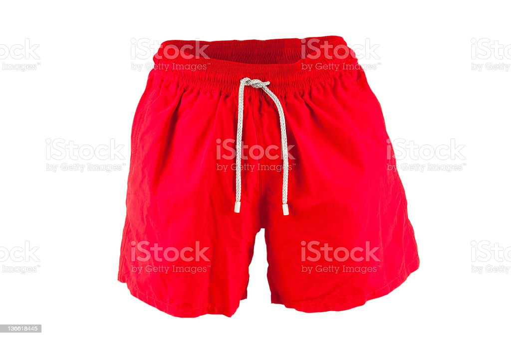 Male swimwear isolated on the white stock photo