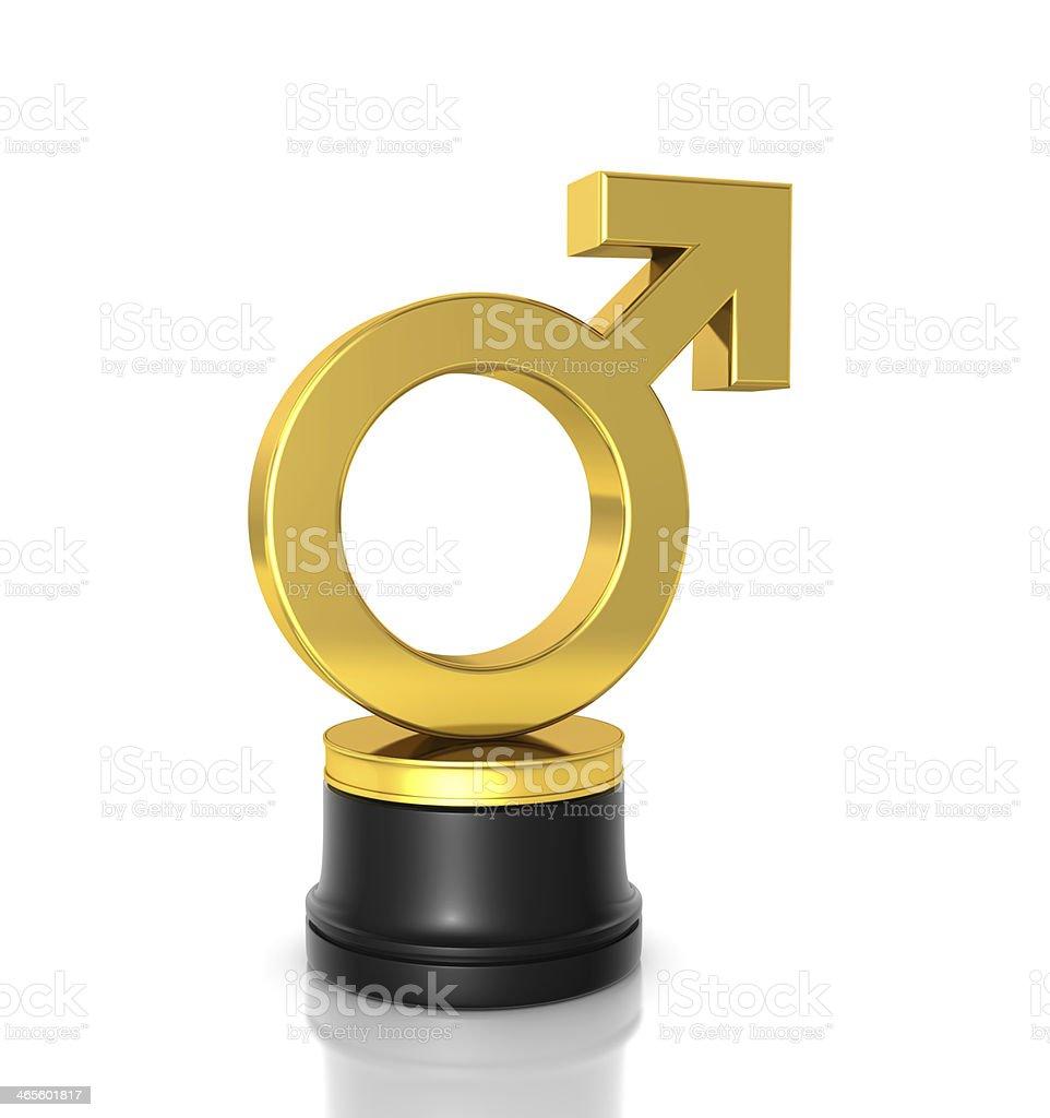 Male Symbol Award royalty-free stock photo