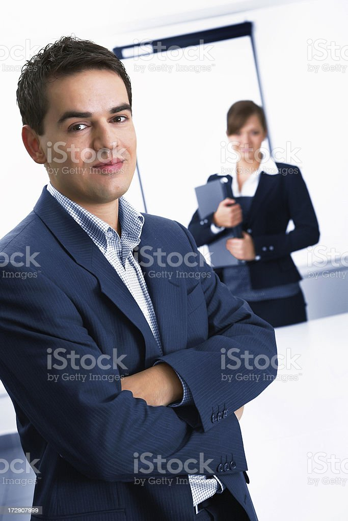 Male team leader and his assistant royalty-free stock photo