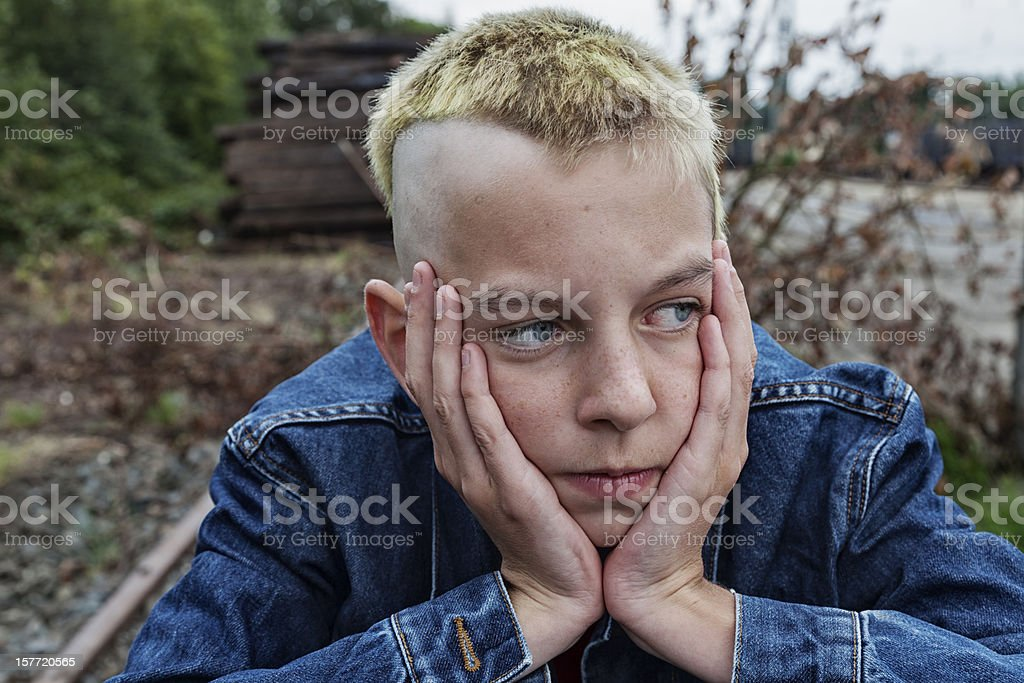 male teenager depression royalty-free stock photo