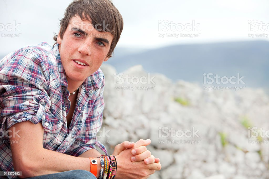Male teenager stock photo