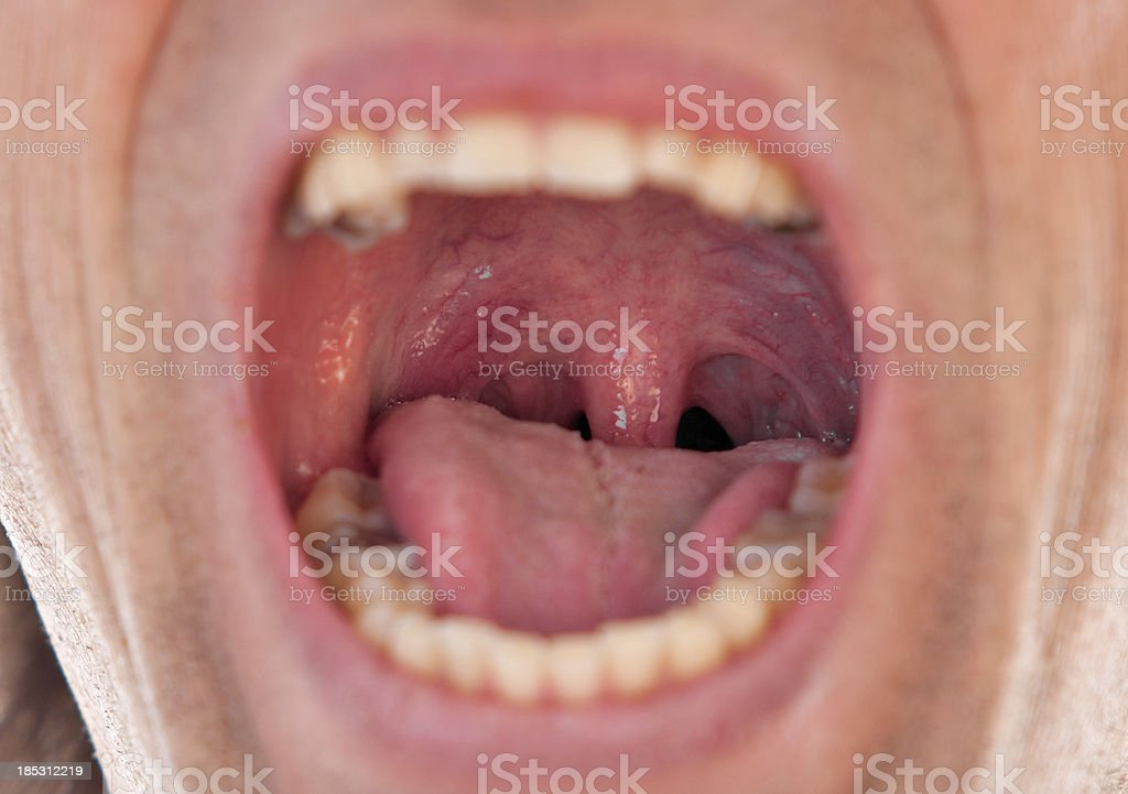 Male throat stock photo