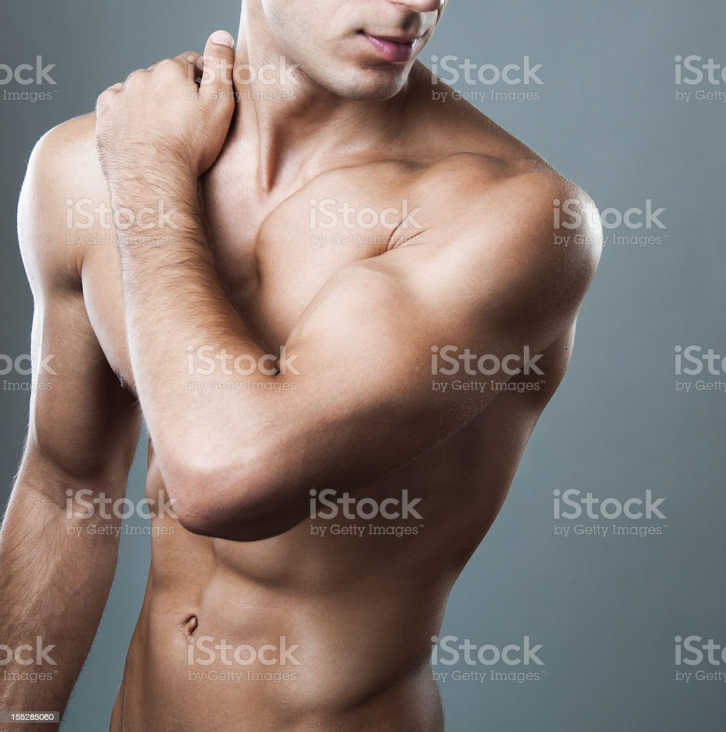 male torso royalty-free stock photo