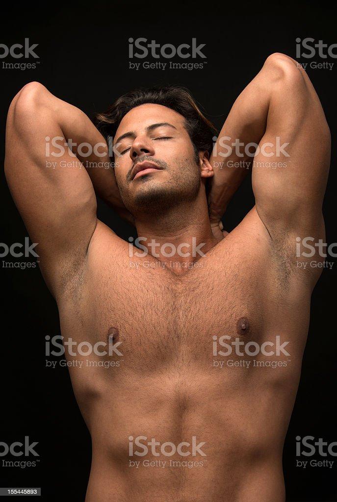 Male torso royalty-free stock photo
