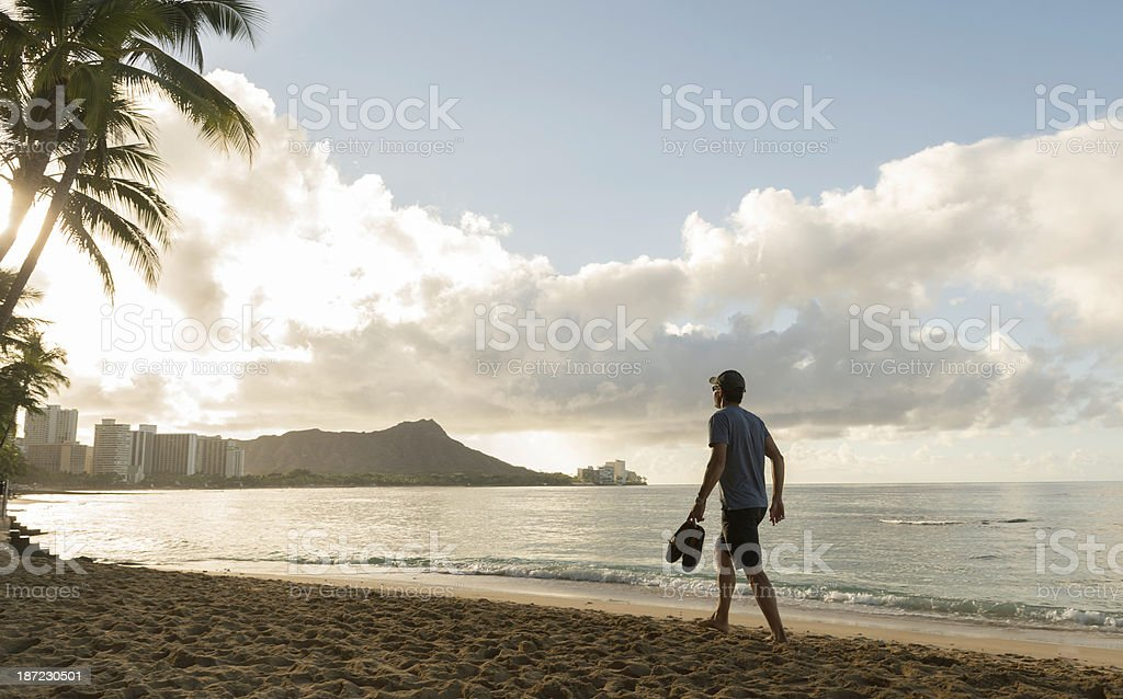 Male tourist in Hawaii royalty-free stock photo