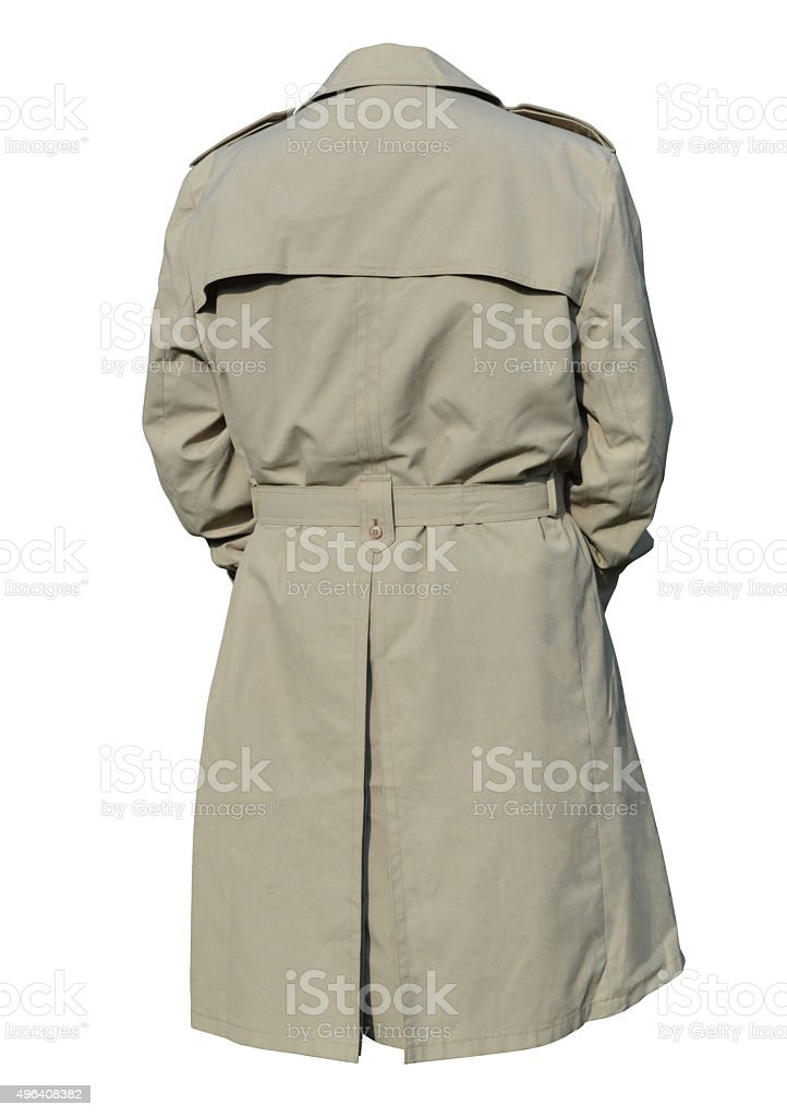 Male trench coat stock photo