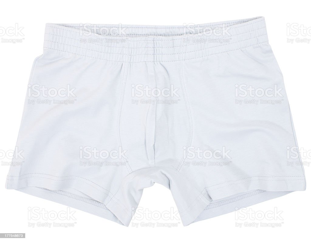 Male underwear isolated on the white stock photo