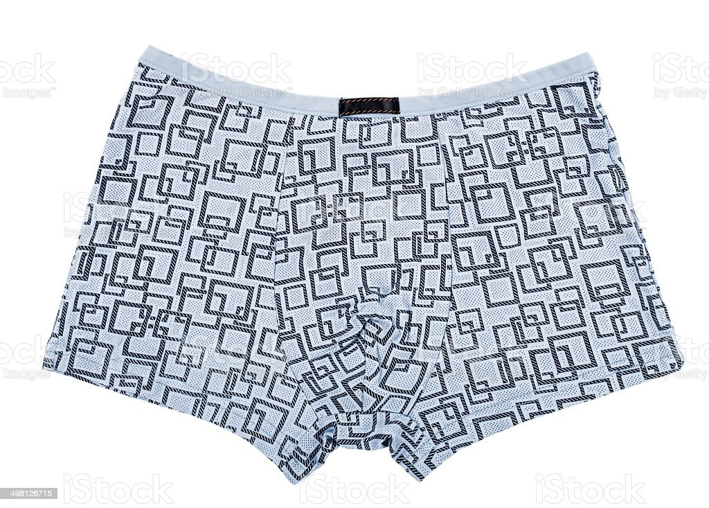 Male underwear isolated on the white royalty-free stock photo
