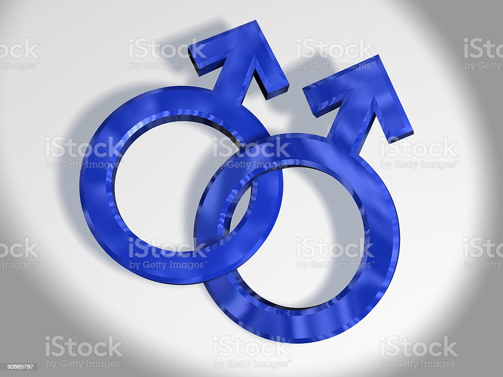 Male Union (3D) royalty-free stock photo