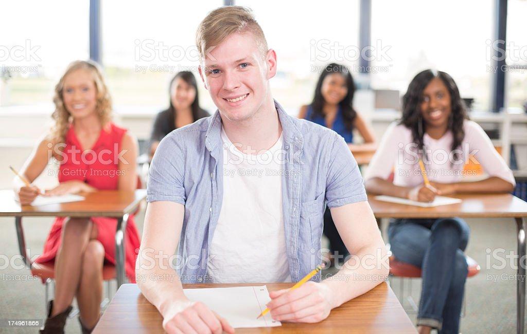 Male Univeristy Student royalty-free stock photo