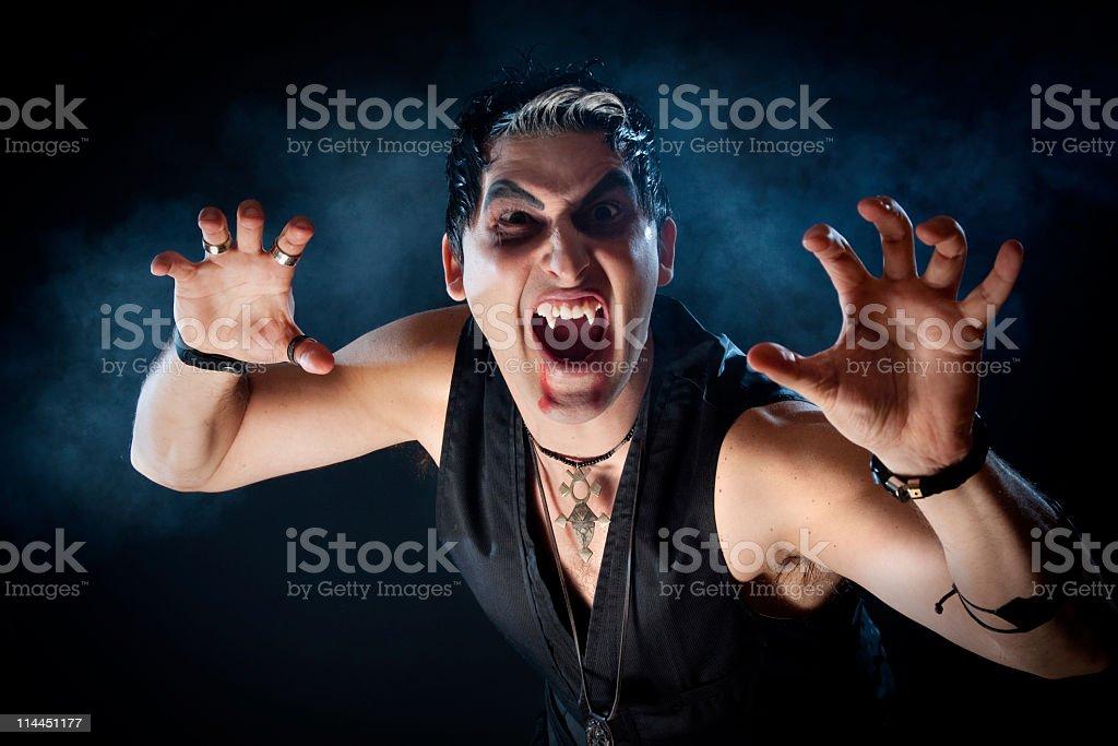 Male Vampire. stock photo