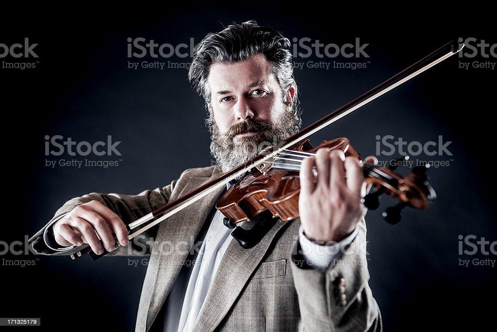Male Violinist stock photo