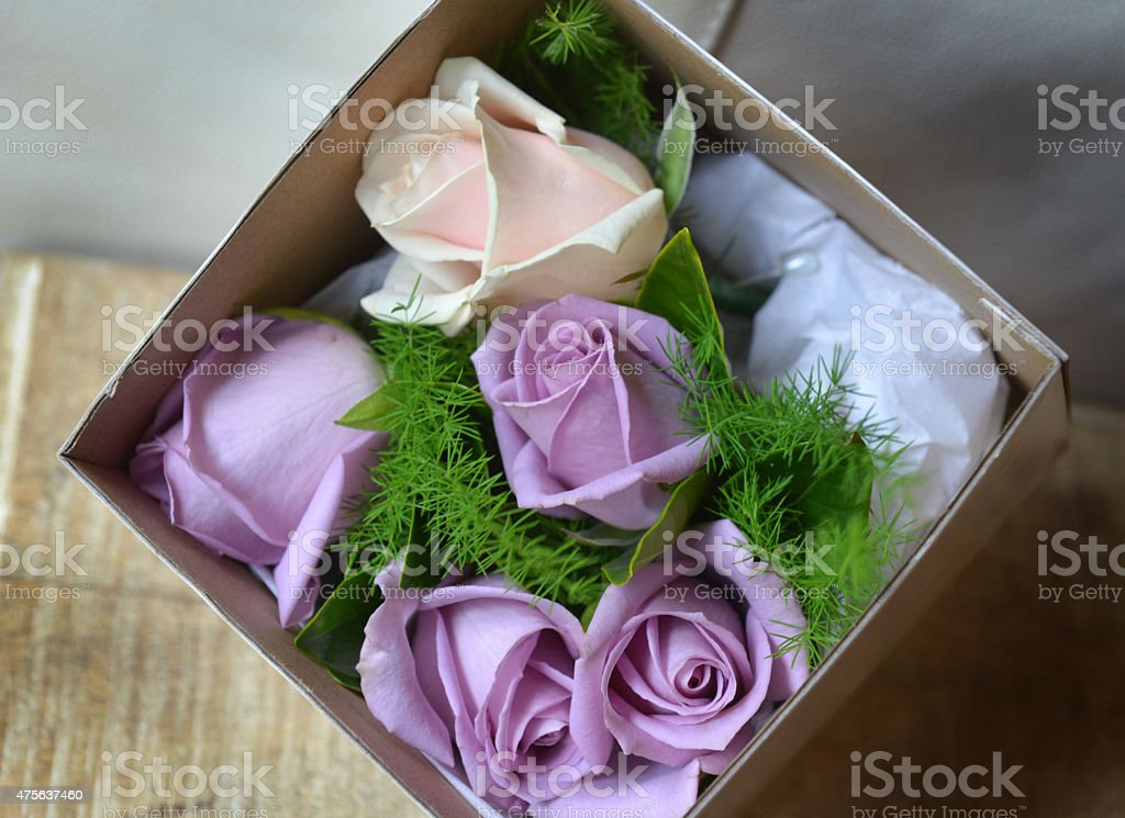 male wedding boutonni?re or buttonhole flowers stock photo