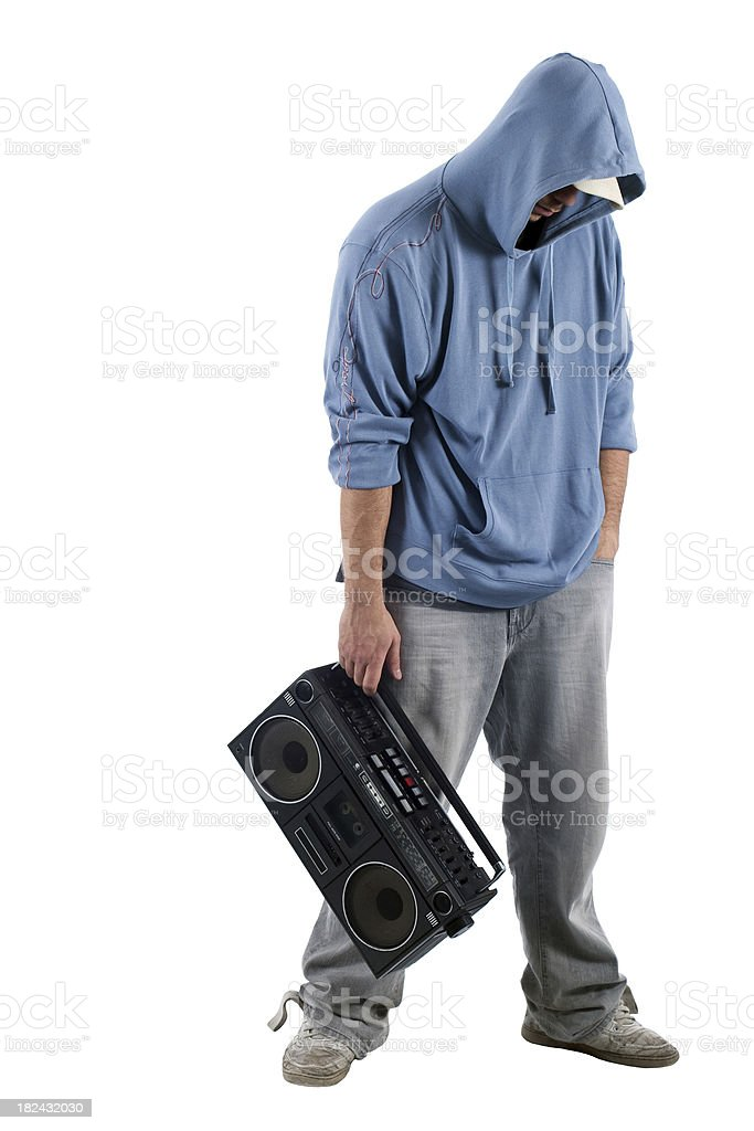 Male with a cassette player royalty-free stock photo