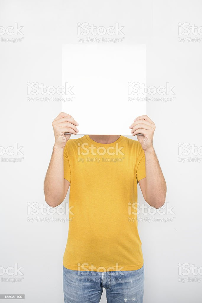 Male with Banner royalty-free stock photo