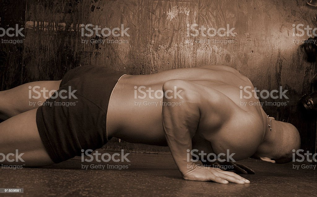 Male with body piercing royalty-free stock photo