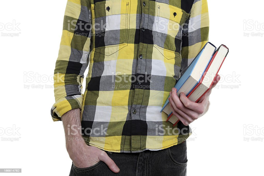 Male with books royalty-free stock photo