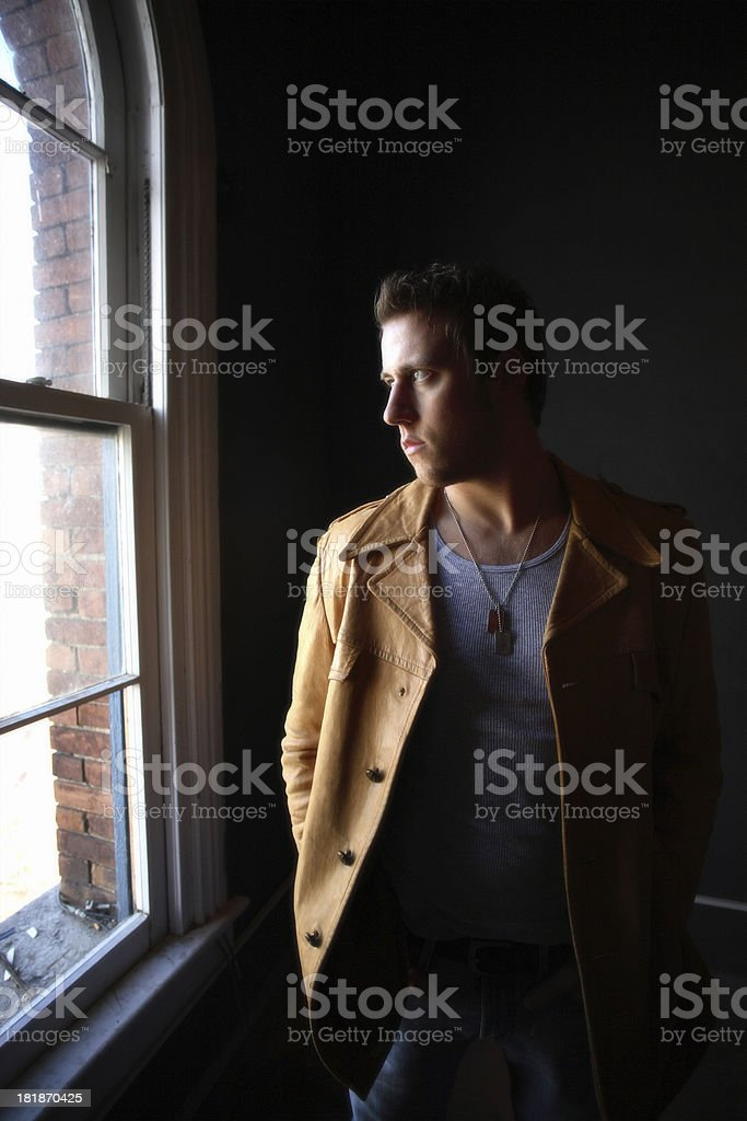 Male with depression royalty-free stock photo