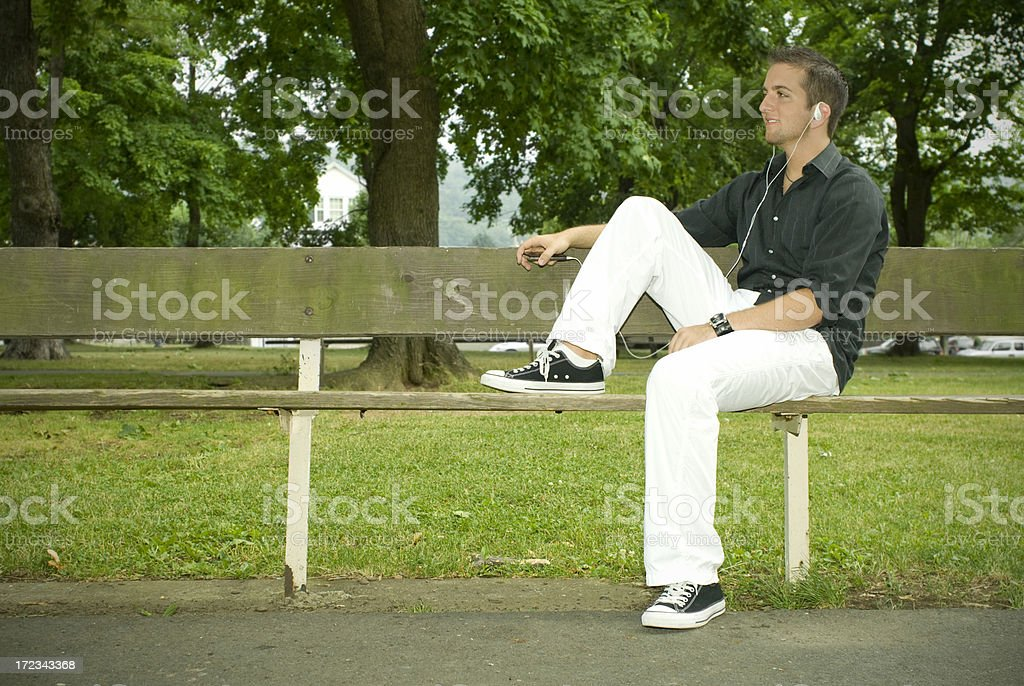 Male with MP3 royalty-free stock photo
