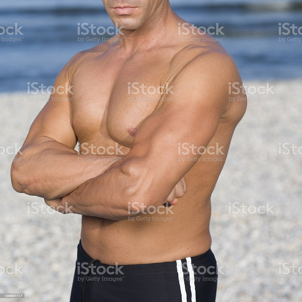 male with muscles stock photo