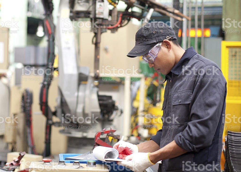 Industrial Ingenieur in Fabrik Lizenzfreies stock-foto