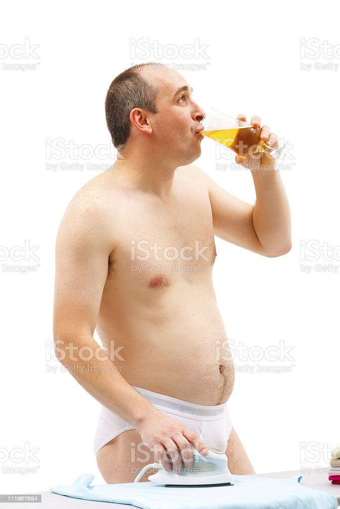 Male working in the hosue royalty-free stock photo
