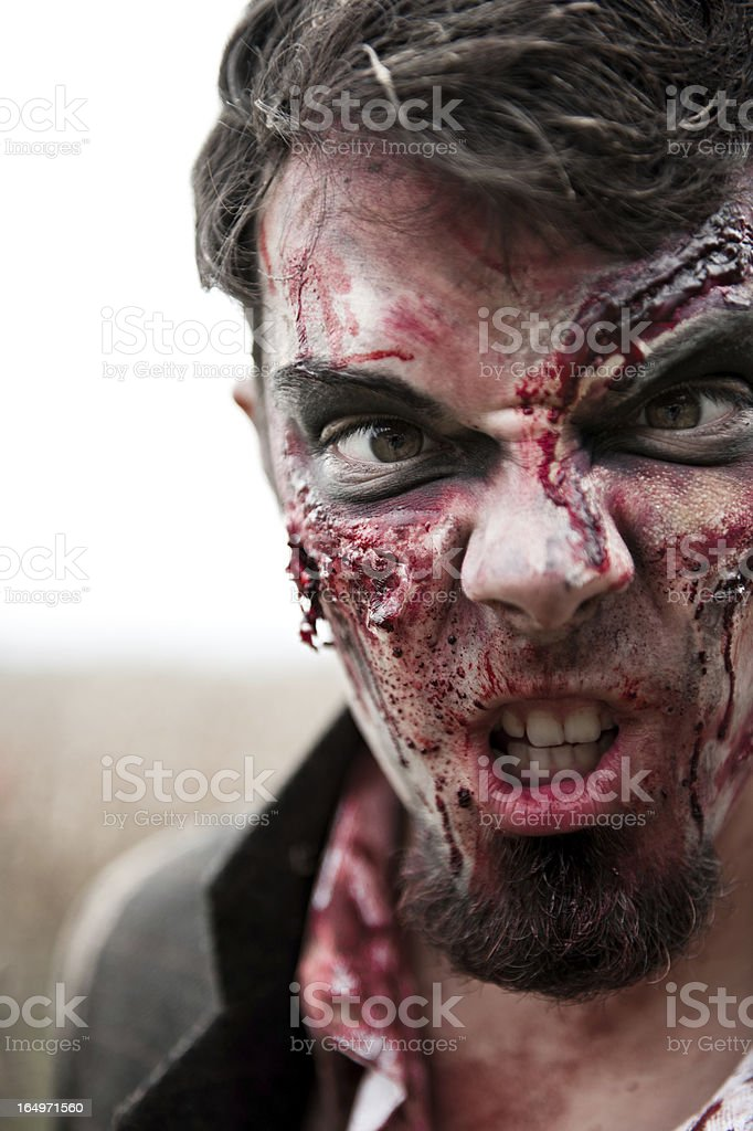 Male Zombie Close-up royalty-free stock photo