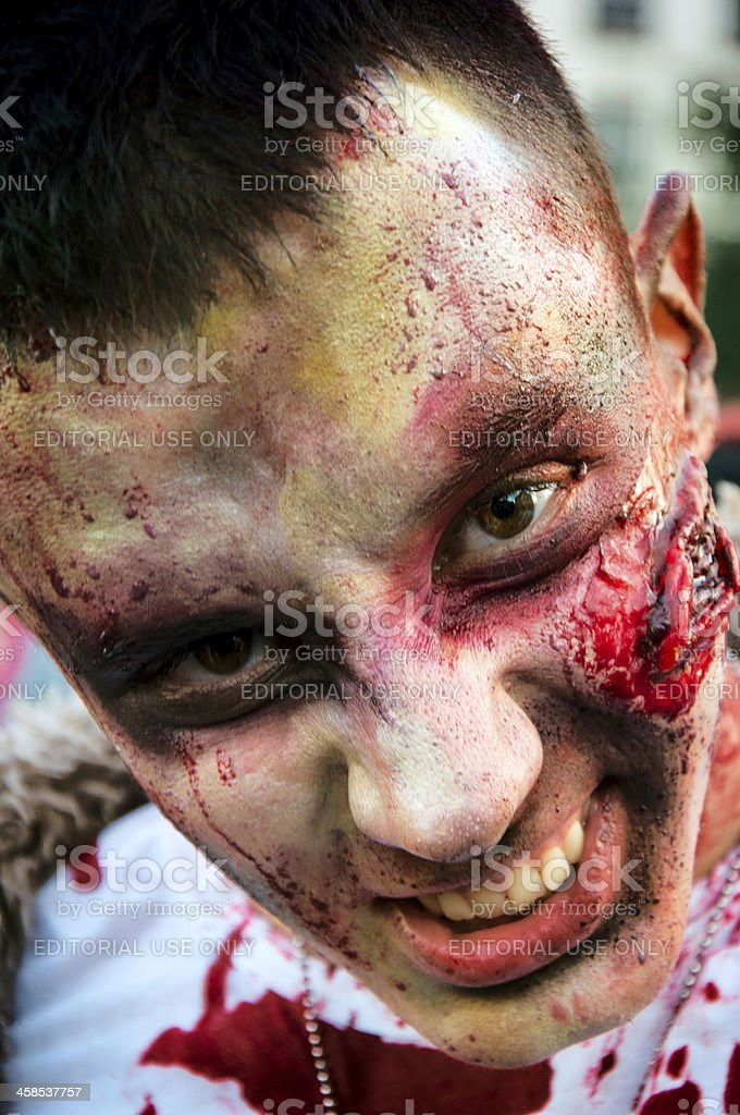 Male zombie royalty-free stock photo