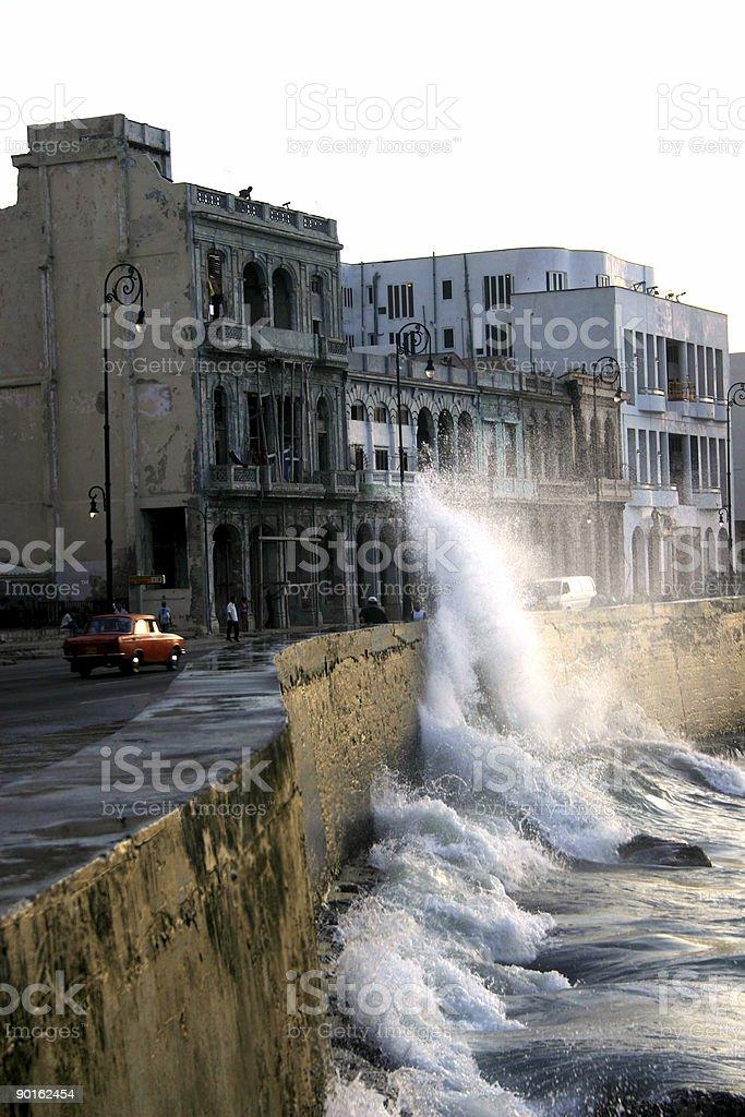 Malecon Havana stock photo