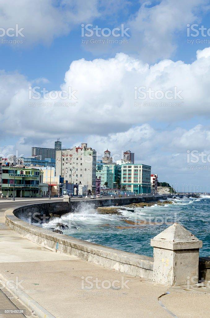 Malecon Promenade stock photo