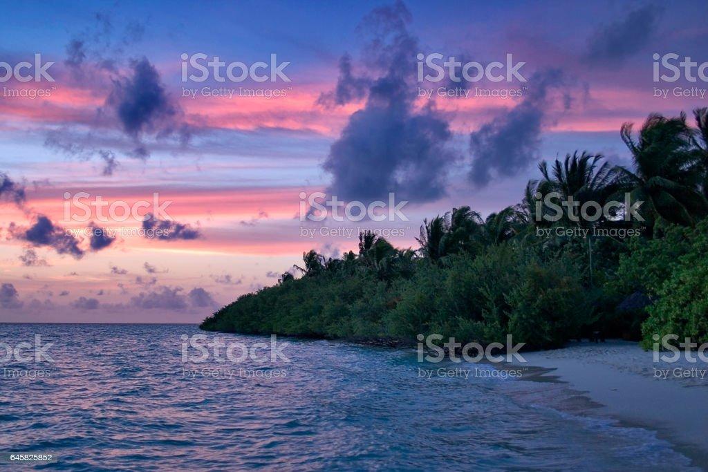 Malediveninsel stock photo