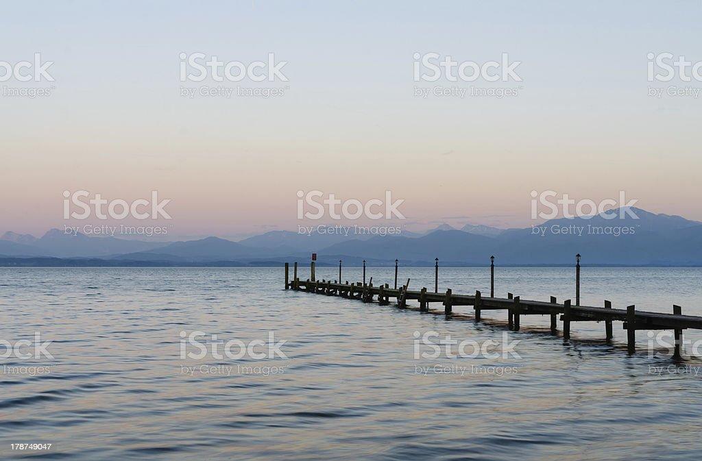 Malerwinkel at Lake Chiemsee stock photo