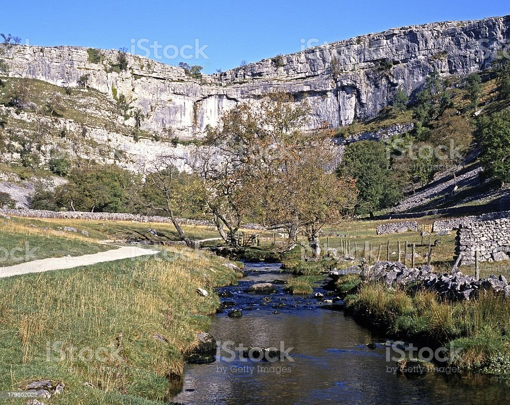 Malham cove and beck, Yorkshire Dales. royalty-free stock photo