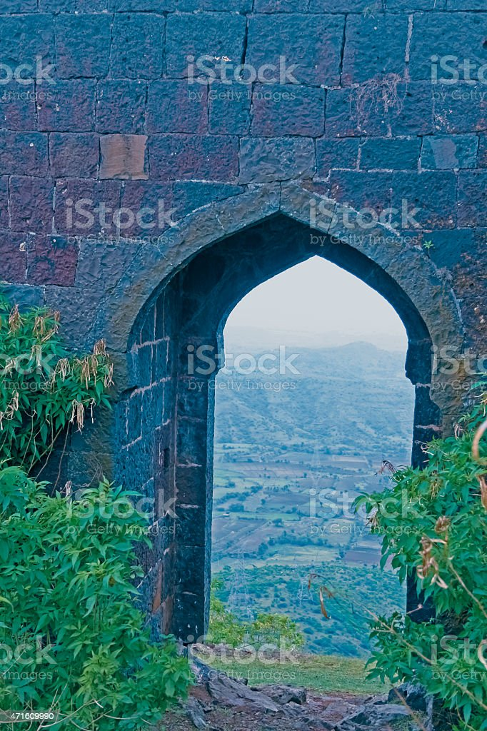 Malhargad, Sonori Fort, hill fort near Sasvad, Pune, Maharashtra stock photo
