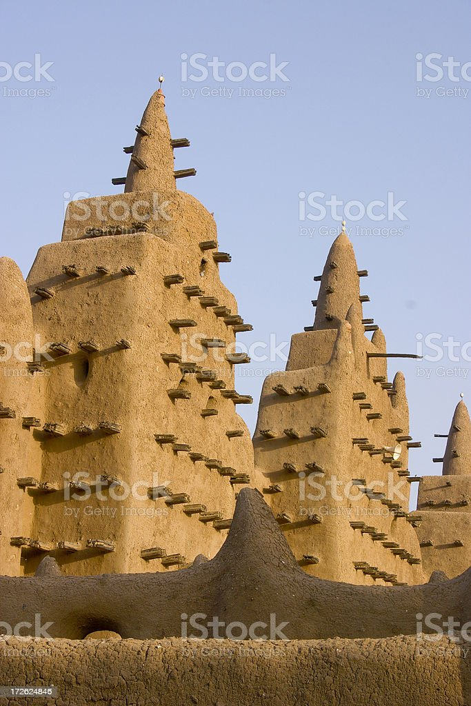 Mali: Great Mosque at Djenne royalty-free stock photo