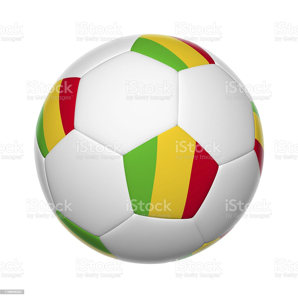 Mali soccer ball royalty-free stock photo