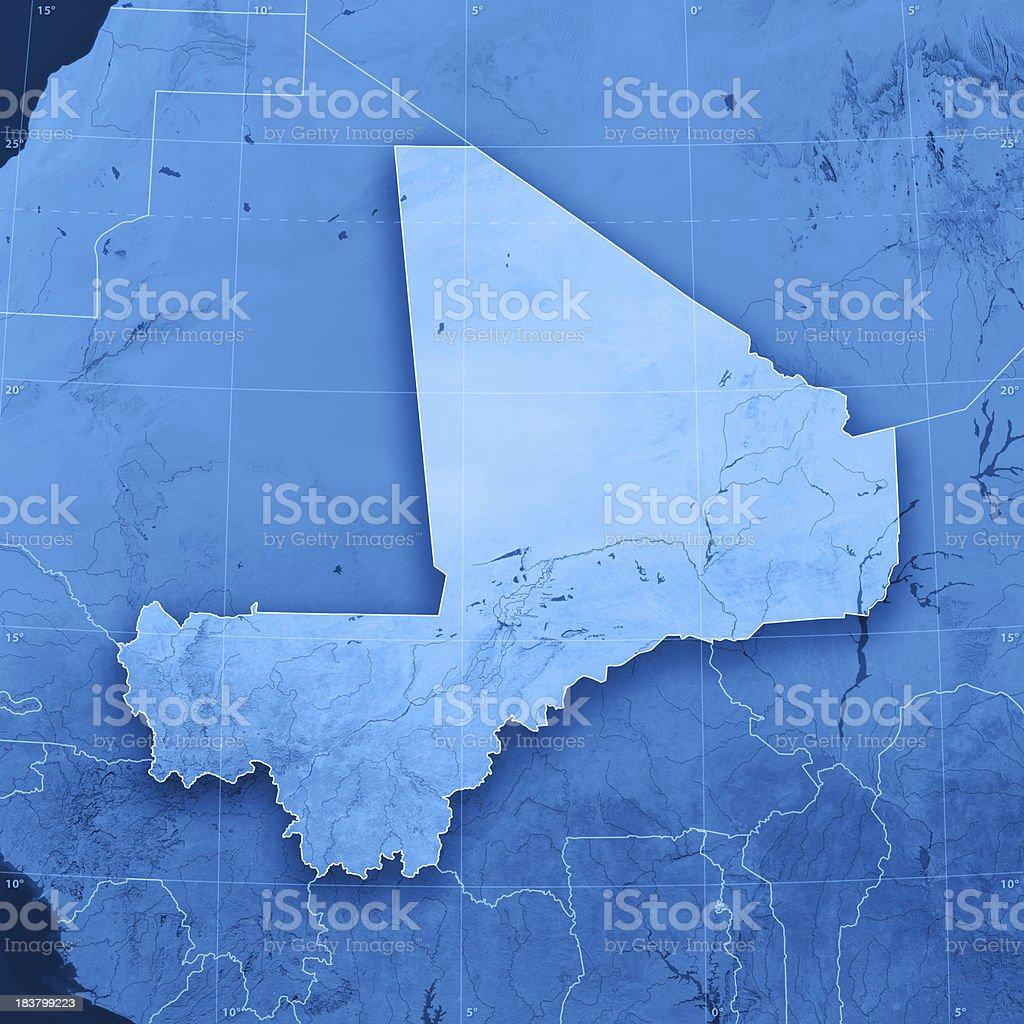 Mali Topographic Map stock photo