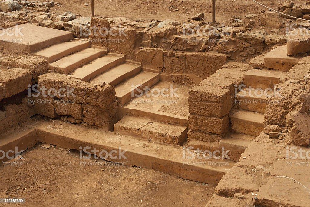 Malia - Ruins of the minoan Palace, Crete stock photo
