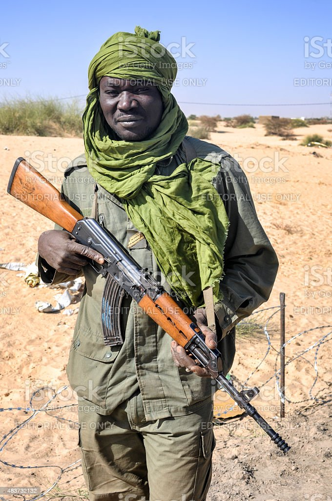 Malian military soldier stock photo
