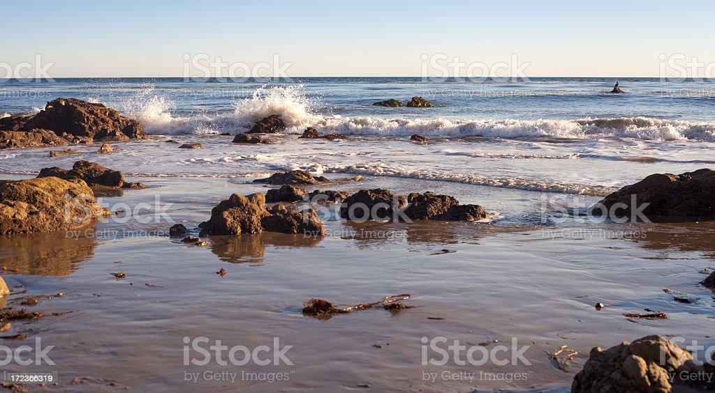 Malibu beach, California royalty-free stock photo