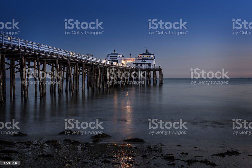 Malibu Beach Sunset royalty-free stock photo
