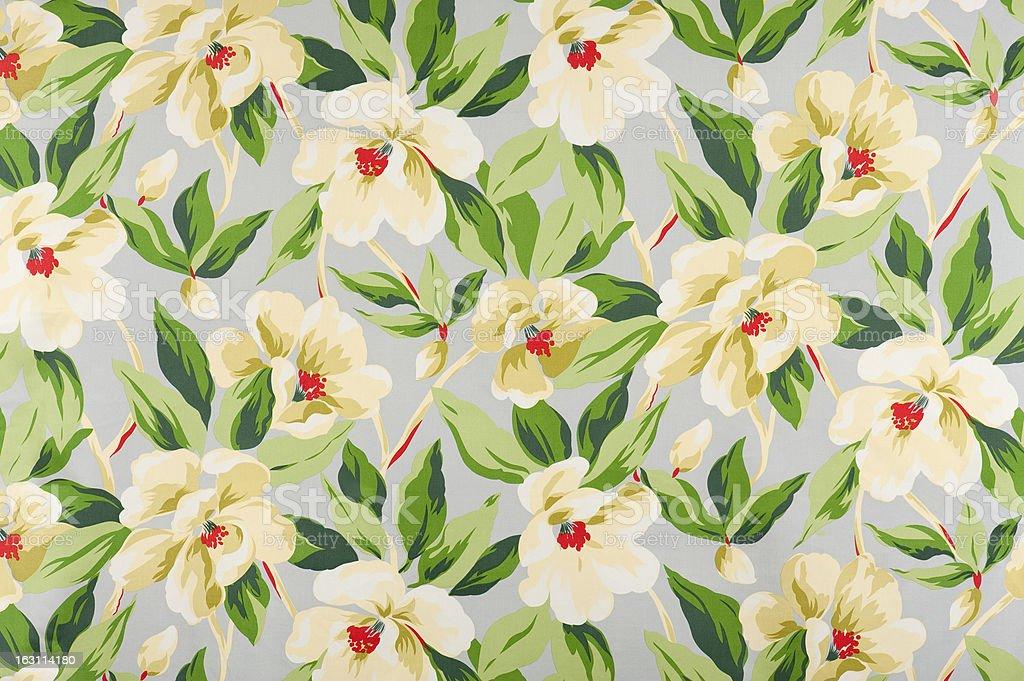 Malibu Floral Antique Fabric stock photo