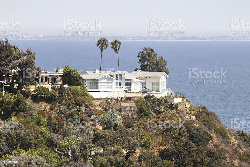 Malibu Homes Coastal Bluff royalty-free stock photo