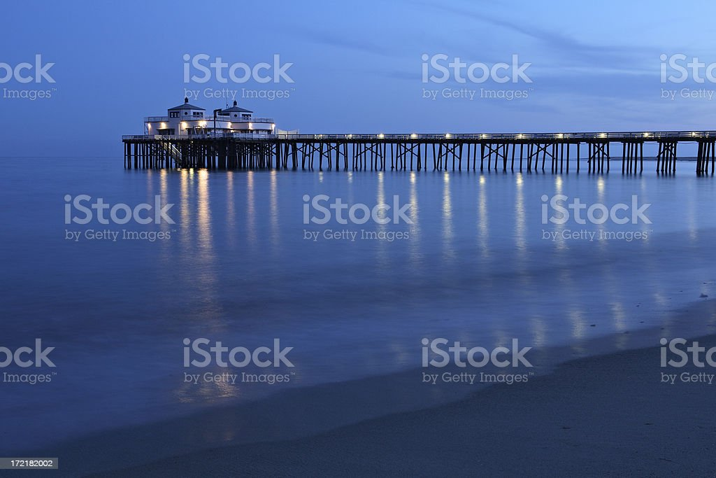 Malibu Pier royalty-free stock photo