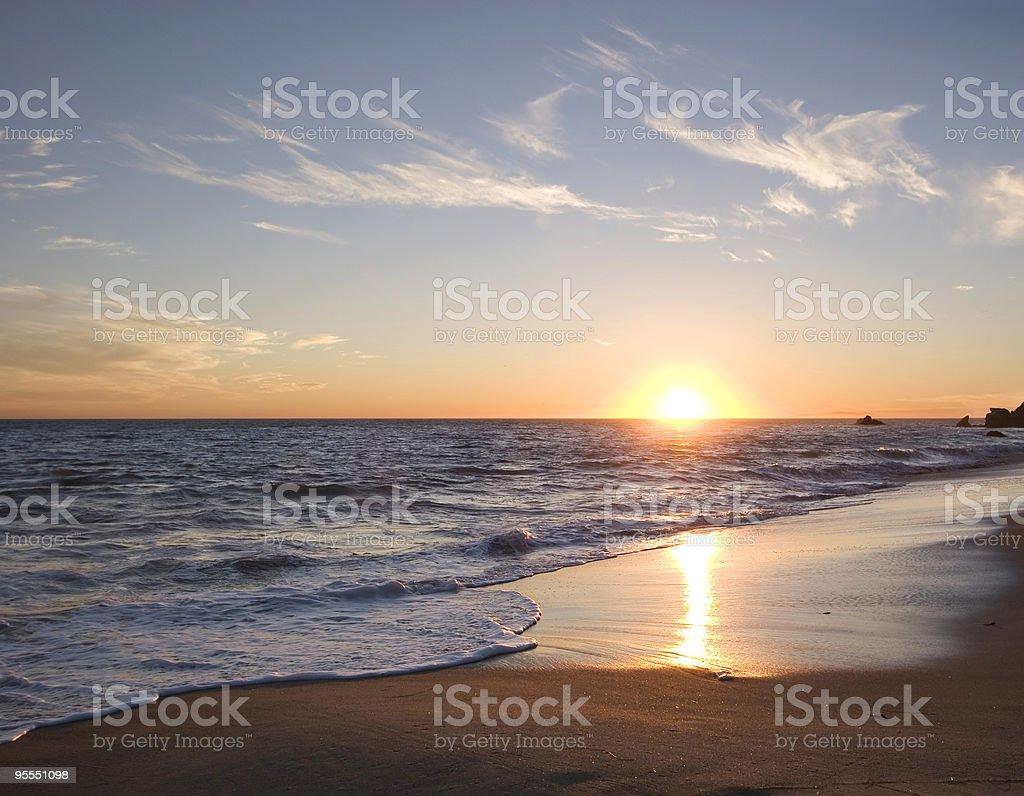 Malibu Sunset stock photo