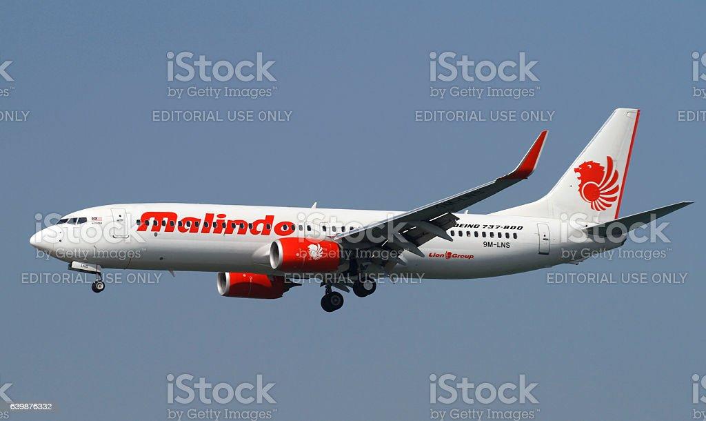 Malindo Boeing 737 stock photo